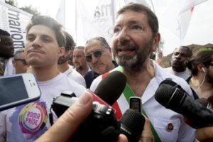 Rome's Mayor, Ignazio Marino, attends the gay pride parade in Rome, 13 Jun 2015. ANSA/CLAUDIO PERI