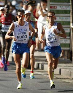 Pertile e Meucci maratona