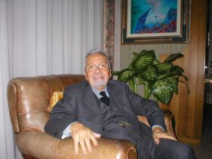 """Febbraio 2006-AREZZO - LICIO GELLI RITRATTO ALL'INTERNO DELLA SUA VILLA """" WANDA """" DI AREZZO -NELLA FOTO:LUCA CASTELLANI/ANSA"""