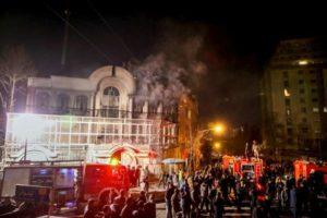 Ambasciata incendiata a teheran