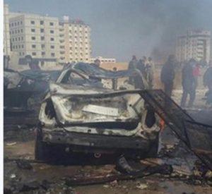 esplosioni a Damasco dal twitter di Yannis Koutsomitis