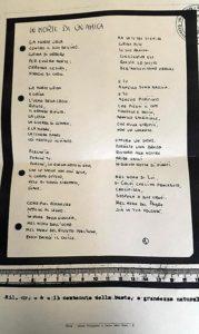La copia della lettera intitolata 'In morte di un'amica' che l'assassino di Lidia Macchi inviò alla famiglia della studentessa uccisa a coltellate quasi trent'anni fa a Cittiglio (Varese). ANSA/ ++HO - NO SALES EDITORIAL USE ONLY++