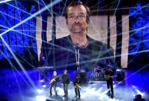 Italian band Stadio perform on stage during the Sanremo Italian Song Festival, at the Ariston theater in Sanremo, Italy, 11 February 2016. The 66th Festival della Canzone Italiana runs from 09 to 13 February. ANSA/CLAUDIO ONORATI