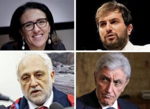Primarie Pd a Napoli, i candidati - Da sx, alto: Valeria Valente, Marco Sarracino, Antonio Bassoliono e Antonio Marfella