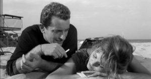 Riccardo Garrone e Claudia Cardinale in una foto di scena del film 'La ragazza con la valigia' (1961) di Valerio Zurlini. ANSA/ WIKIPEDIA ++HO - NO SALES EDITORIAL USE ONLY++