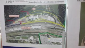 La barriera prevista al Brennero, 27 aprile 2016. ANSA / STEFAN WALLISCH
