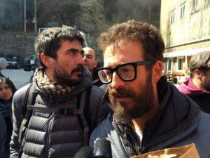 Giammarco Di Pieri il militante fermato e successivamente rilasciato dalla polizia austriaca nel corso della manifestazione al Brennero, 24 aprile 2016. ANSA/Roberto TOMASI