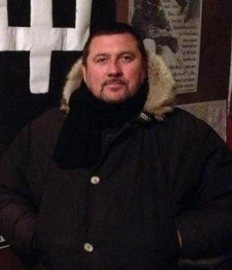 """Una foto tratta dal profilo facebook di Daniele De Santis, detto """"Gastone"""" o """"Danielino"""", accusato di aver sparato contro alcuni tifosi napoletani a pochi passi all'Olimpico, che sul social network sotto al nickname scrive """"Boia chi molla"""", Roma, 6 maggio 2014. ANSA/FACEBOOK ++ NO SALES, EDITORIAL USE ONLY ++"""