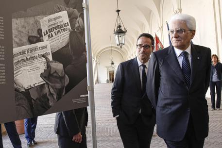 """Quirinale inaugurazione mostra dell'Ansa """"2 giugno 1946"""""""
