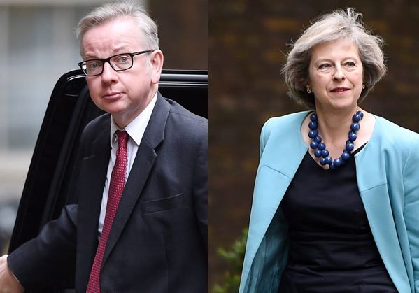Michael Gove .Theresa May