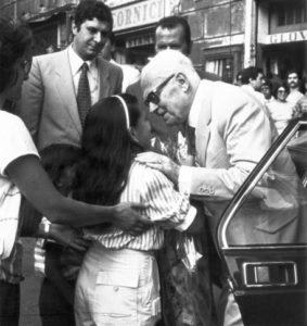 Sandro Pertini celebrates his fifth presidential anniversary in Rome, Italy, 7 July 1983. ANSA/OLDPIX
