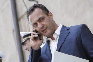 Marcello De Vito in Campidoglio al termine della riunione informale capigruppo. Roma 30 Giugno 2016, ANSA/GIUSEPPE LAMI