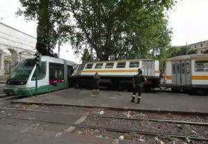 Scontro fra tram a Roma