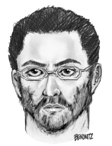 epa05486542 A handout sketch released by the New York City Police Department of a possible suspect, based on witness descriptions, in the shooting of Imam Maulama Akonjee and his assistant on 13 August the Queens Borough of New York City, New York, USA, 15 August 2016. The two were found with gunshot wounds to the head and taken to hospital, where the Imam died. The other person remains in critical condition at the Jamaica Hospital. EPA/NYPD / HANDOUT HANDOUT EDITORIAL USE ONLY