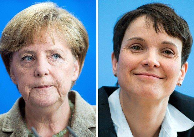 Merkel e Fr auke Petry