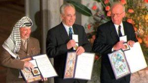 Nobel per Arafat, peres e Rabin