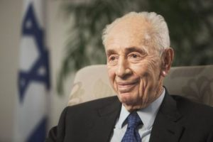 FILE - In this Nov. 2, 2015 file photo, former Israeli President Shimon Peres speaks during an interview with The Associated Press in Jerusalem. Former Israeli President Shimon Peres on Tuesday suffered a stroke and was rushed to a hospital, where he was sedated and placed on a respirator ahead of a brain scan. (ANSA/AP Photo/Dan Balilty, File) [CopyrightNotice: Copyright 2016 The Associated Press. All rights reserved.]