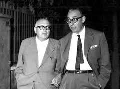Pietro Nenni con Giacomo Mancini