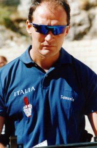 Samuele Donatoni, l' ispettore dei Nocs ucciso la notte scorsa in un conflitto a fuoco con i sequestratori dell' imprenditore Giuseppe Soffiantini. ANSA /