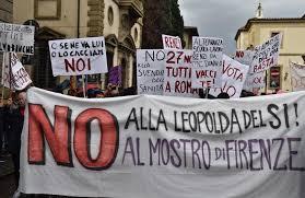Corteo anti-Renzi