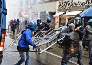 Protesta anti Renzi  Firenze