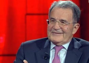 Romano Prodi ospite di Fabio Fazio a 'Che tempo che fa', in un fermo immagine dalla trasmissione di Rai3, 3 maggio 2015. ANSA / FERMO IMMAGINE RAI3 +++ANSA PROVIDES ACCESS TO THIS HANDOUT PHOTO TO BE USED SOLELY TO ILLUSTRATE NEWS REPORTING OR COMMENTARY ON THE FACTS OR EVENTS DEPICTED IN THIS IMAGE; NO ARCHIVING; NO LICENSING; NO TV+++