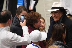Italian singer Al Bano during Pope Francis' an audience with the Community of the Bambino Gesu' Pediatric Hospital in Nervi Hall at the Vatican, 15 December 2016. ANSA/CLAUDIO PERI
