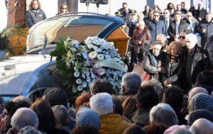 Parents of  Fabrizia Di Lorenzo, a victim of the terrorist attack in Berlin, wait out of Sulmona Cathedral, 26 December 2016. ANSA/Claudio Lattanzio