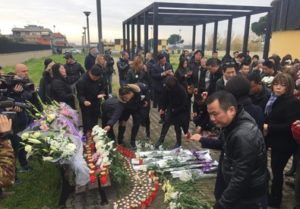 Funerali studentessa cinese