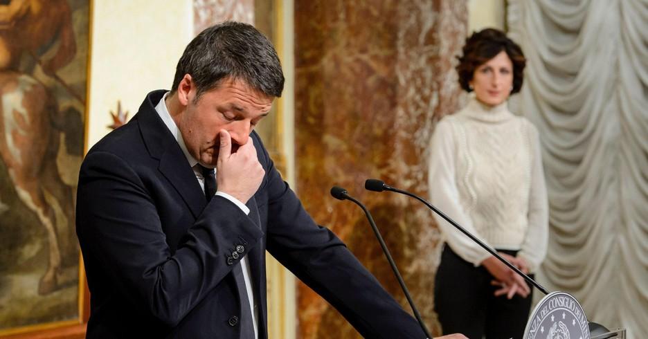 Renzi addio con moglie
