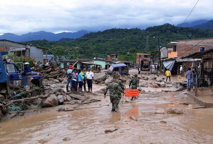At least 15 people dead after a landslide in Mocoa