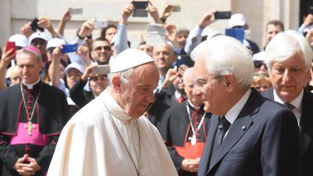 Pope Francis' visit to Italian president Mattarella at Quirinale