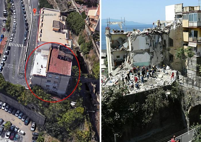 COMBO Torre Annunziata, la palazzina prima del crollo