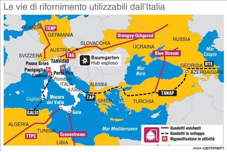 ESPLODE IMPIANTO IN AUSTRIA, SI FERMA IL FLUSSO PER L'ITALIA