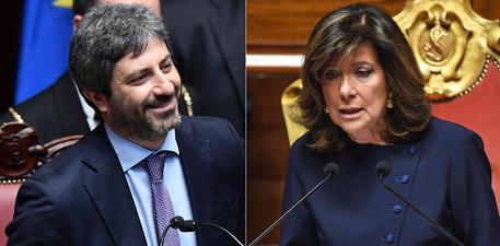 FICO PRESIDENTE DELLA CAMERA, CASELLATI PRIMA DONNA AL SENATO