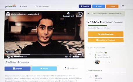 LOrenzo Farinelli, appello 'aiutatemi a vivere' e web si mobilita