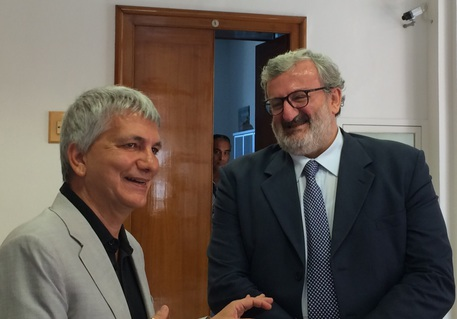 Foto incontro Nichi Vendola e Michele Emiliano