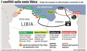 Cartina Libia