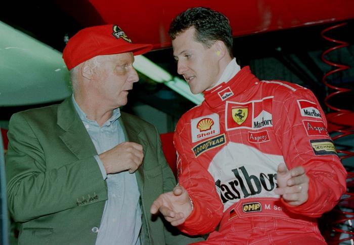 Niki Lauda e Schumacher