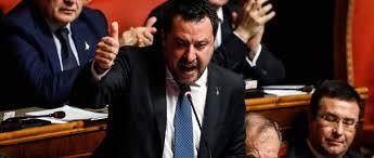 Salvini in Senato