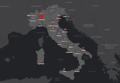 Coronavrus. Mappa dei contagi