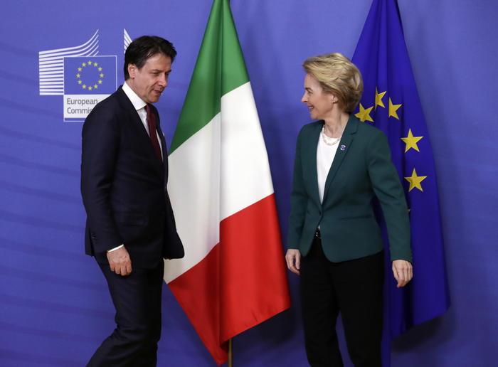 Italian Prime Minister Giuseppe Conte visits EU Commission