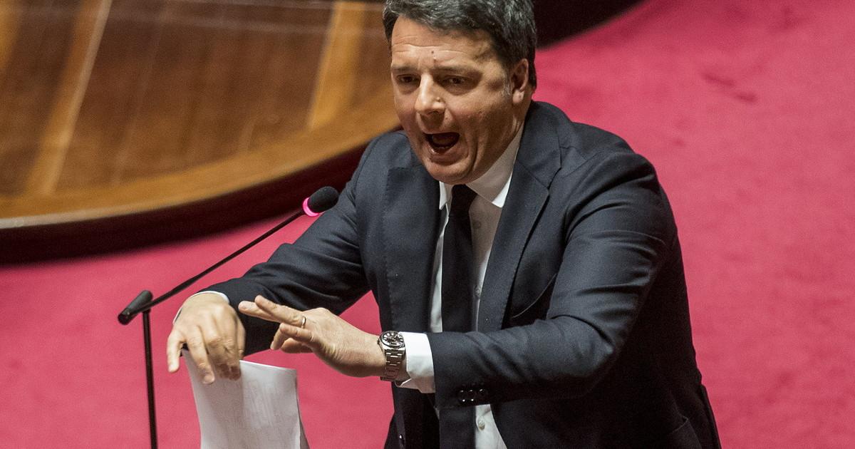 Renzi in Senato