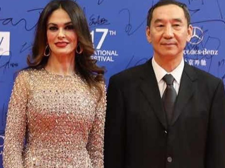 Cucinotta con il presidente della China Film