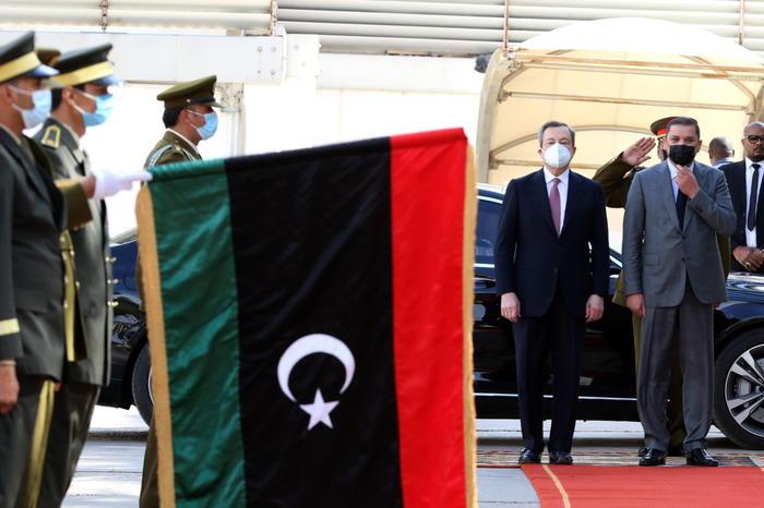 Italian Prime Minister Mario Draghi in Libya