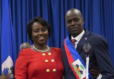 Presidente di Haiti, Jovenel Moise, e moglie