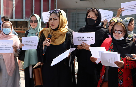 Afghanistan crisis –  Women protest for their rights in Kabul