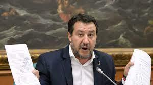 Conferenza stampa di Salvini